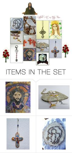 """Religious Art on Etsy by TerryTiles2014 - Volume 402"" by terrytiles2014 on Polyvore featuring arte, etsy, art, gifts, catholic e religious"