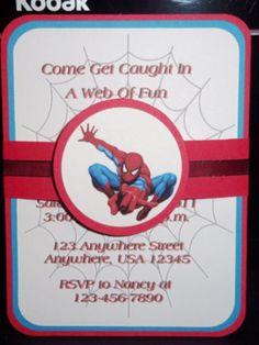 Spiderman Invite