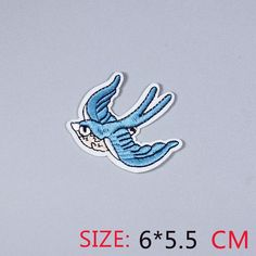 [Visit to Buy] HOT sale 1Pc  magpies swallows blue bird  Iron On Embroidered Patch For Cloth Cartoon Badge Garment Appliques DIY Accessory #Advertisement