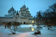 """Rostov Velikiy, one of the cities forming the so called """"Golden Ring"""" around Moscow, Russia"""
