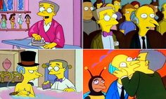 The Simpsons executive producer Al Jean hinted at the development regarding Monty Burns' sycophantic personal assistant, who has fantasised about his elderly boss many times. Yeardley Smith, Simpsons Cartoon, Santa's Little Helper, Executive Producer, Sideshow, Funny People, Comedians, Love Him, The Simpsons