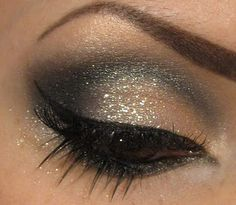 dramatic gold and black makeup - Google Search