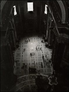 Herbert List  Rome. 1949. People in a Church