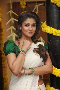 Nayanthara Latest Stills In Onam Saree - Tollywood Stars