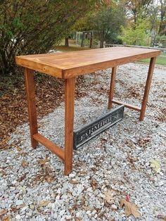 Wood Bar Stools, Wood Display, American Walnut, Sofa Tables, Custom Woodworking, How To Distress Wood, Types Of Wood, Console, Rustic