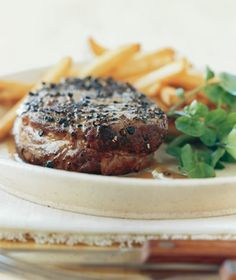 Pan-Seared Steak Au Poivre from realsimple.com #myplate #protein
