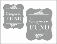 Honeymoon Fund Jar Labels