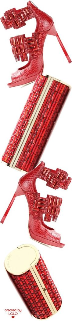 Jimmy Choo Jing Ruby Shiny Elaphe Sandals with Crystals Red Shoes, Me Too Shoes, Holiday Shoes, Embellished Shoes, Red Fashion, Color Fashion, Glitter Shoes, Stiletto Heels, Stilettos