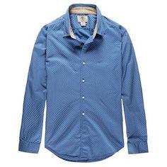 Timberland - Chemise LS Lane River Polka Dot Homme - Coupe Slim - dutch blue