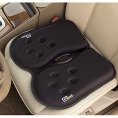 This gel seat cushion relieves point-of-contact pressure and helps reduce lower back pain inherent in long periods of sitting in a car or office chair. The cushion is filled with a soft visco-elastic gel and supportive memory foam that disperse your weight to alleviate pressure points. I need this for my drive back to Oklahoma!!
