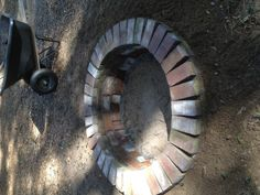 Build your own backyard firepit! what to do with all those old bricks..hmmm
