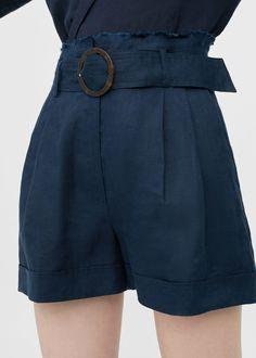 Short lino cinturón