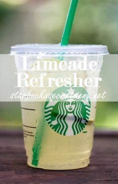 Limeade Refresher. #StarbucksSecretMenu Simple and delicious! Recipe here: http://starbuckssecretmenu.net/limeade-refresher-starbucks-secret-menu/