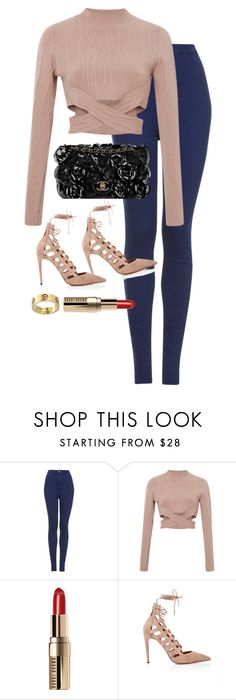 """Untitled #1391"" by leylasstyle ❤ liked on Polyvore featuring Topshop, Jonathan Simkhai, Chanel, Bobbi Brown Cosmetics and Aquazzura"
