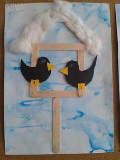 Bird Crafts, Snowman Crafts, Christmas Crafts, Diy And Crafts, Arts And Crafts, Winter Crafts For Kids, Spring Crafts, Art For Kids, Winter Art