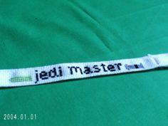 Jedi Master Bracelet Cross Stitched by SnarkyLittleStitcher, $8.50