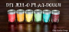 DIY JELL-O Play-Dough