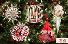 Decorate your Christmas tree this year with handmade ornaments! How about a partridge in a bird cage!  Or two different styles of snowflake rosette ornaments!  Maybe you prefer the vintage spindle ornament, it's amazing!  And how cute is that christmas tree ornament-a bonus file turns it into a box!