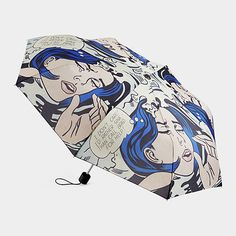 """I don't care! I'd rather sink than call Brad for help!"" Roy Lichtenstein: Drowning Girl Umbrella"