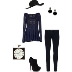 """""""Black and Navy"""" by vfriedman on Polyvore"""