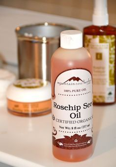 Rosehip Seed Oil -- great as a natural makeup remover and moisturizer; repairs sun damage; prevents wrinkles