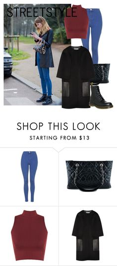 """""""Streetstyle #80"""" by romi-kella on Polyvore featuring Topshop, Chanel, WearAll, Fendi and Dr. Martens"""