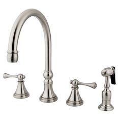 Kohler Revival 4 Hole Kitchen Sink Faucet With 11 1316 Spout