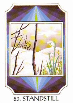 23. Standstill (Isa) - Rune Cards by Ralph Blum Illustrated by Jane Walmsley