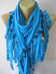 Cotton Scarf-Blue Scarf Shawls-Scarves-gift Ideas For Her