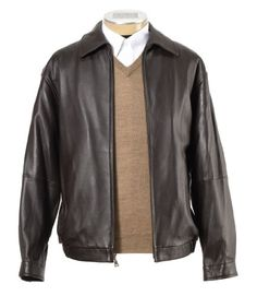 SALE PRICE $110.49 - New Jos. A. Bank Lambskin Bomber Jacket