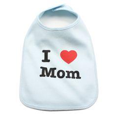 I Love Mom Baby Bib