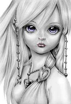 dessin hyper bien fait d une fille