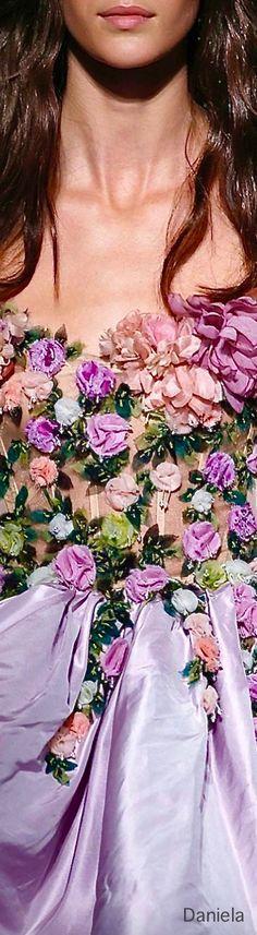 Marchesa Runway Fashion, High Fashion, Fashion Show, Floral Fashion, Color Fashion, Fashion Design, Floral Style, Lovely Dresses, Marchesa