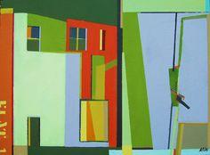 "Saatchi Art Artist Karin Hay White; Painting, ""Flat 1"" #art"