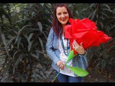 Chuladas Creativas :: Rosas Gigantes :: Ramos de Rosas Crepe - YouTube