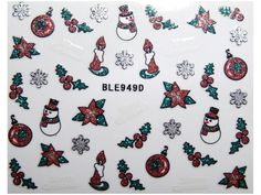 Condividi i nostri prodotti avrai uno sconto del 5 %,fai sapere che ci sei Nail Sticker Natale mod949 #originalnail