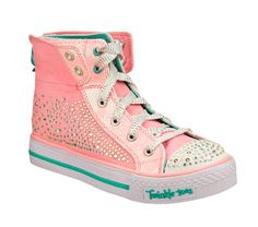 d87a133505a1 Buy SKECHERS Girls  Twinkle Toes  Shuffles - Rock N Beauty High Top Shoes  only