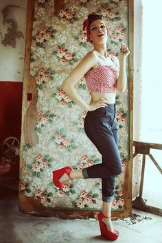 How adorable is this photo shoot for Crazy Beautiful featuring the Trixie Top in Red Gingham?!?