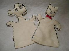 filcoví maňásci - pejsek a kočička