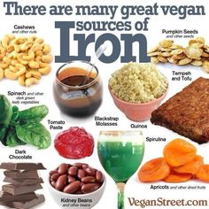 The Importance of Vitamin in a Vegetarian Diet. It's something we become aware of all the time: individuals, in general, do not eat healthy. Foods With Iron, Iron Rich Foods, Foods High In Iron, Foods That Contain Iron, Vegan Nutrition, Health And Nutrition, Sport Nutrition, Nutrition Club, Nutrition Quotes