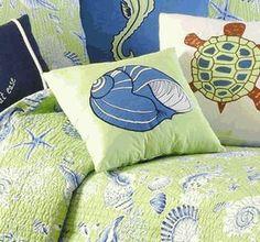 Shell on Green Pillow