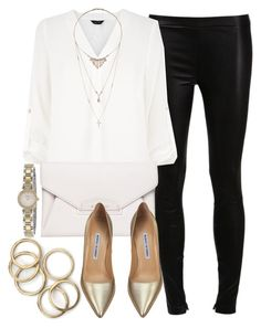 """""""Style #9087"""" by vany-alvarado ❤ liked on Polyvore featuring Vince, Givenchy, Manolo Blahnik, Miss Selfridge and Kate Spade"""