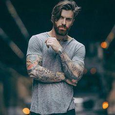 "34 Me gusta, 2 comentarios - @beardzandink en Instagram: ""@levistocke #bearded #model #tattooed #inked #sleevetattoo #levistocke"""
