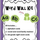 Set up your classroom in style with this cute frog-themed Word Wall Kit. Word wall can be so much fun during the day, especially if you have fun ga...