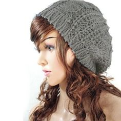 4259ff6b298 JOVANA New Arrival Top Fashion Winter Warm Women Lady Yong Girls Baggy  Beret Chunky Knit Knitted Braided Beanie Hat Ski Cap Crochet Knitted Hat  Knitted ...