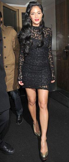 Eyes down: Nicole Scherzinger                                                                                                                                                                                 More