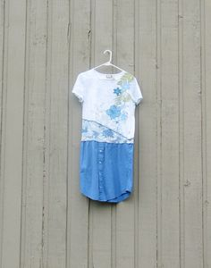 Altered Upcycled tshirt men's shirt dress on various by upCdooZ, $42.00