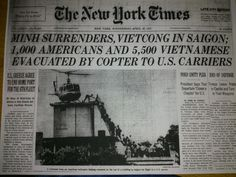 vintage everyday: 28 Newspaper Headlines From the Past That Document History's Most Important Moments Vintage Newspaper, Newspaper Design, Trivia Of The Day, Michael Morris, Front Page News, Newspaper Headlines, South Vietnam, Newspaper Article, All News