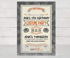 Halloween invitation, halloween birthday invitation, Halloween birthday party, costume party invitation, halloween 1st birthday invitation