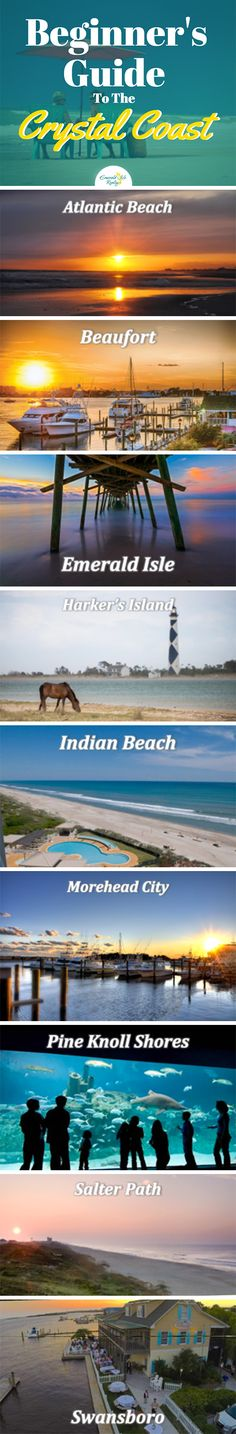 The Crystal Coast makes up a large portion of the 85 miles of coastline on the Outer Banks If you're interested in the area but don't know the best city for your family vacation, learn a little about what makes each community unique on our blog!